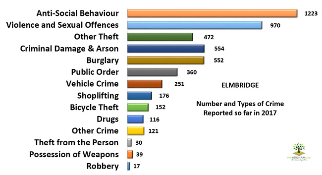 elmbridge crime types text34x650 - Has Local Crime Increased Since The Streetlights In Elmbridge Went Out? We Have The Answer!