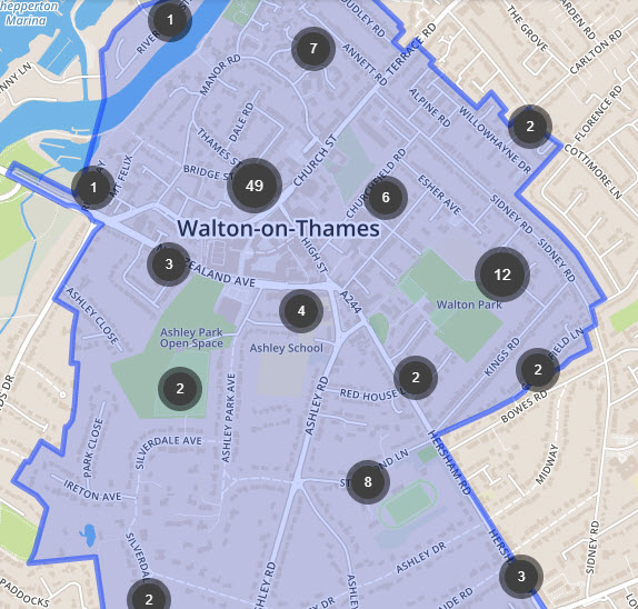 walton centre crime map - Has Local Crime Increased Since The Streetlights In Elmbridge Went Out? We Have The Answer!