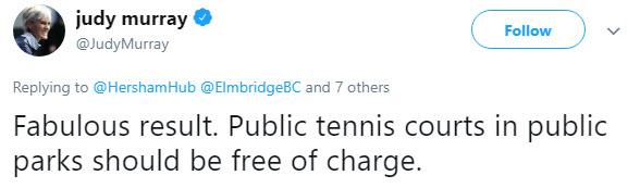 judy murray - Double Fault! - The Return Of The Hated Elmbridge Tennis Tax!