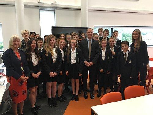 Dominic Raab, MP tackles hot topics at Three Rivers Academy