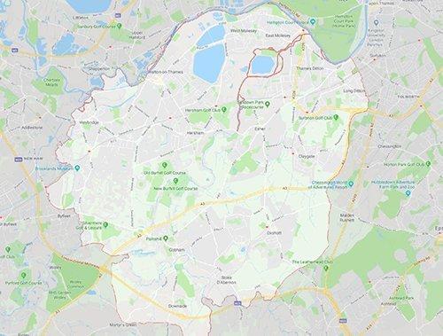 elmbridge map 500 - Local Plan For Elmbridge Consultation Statement