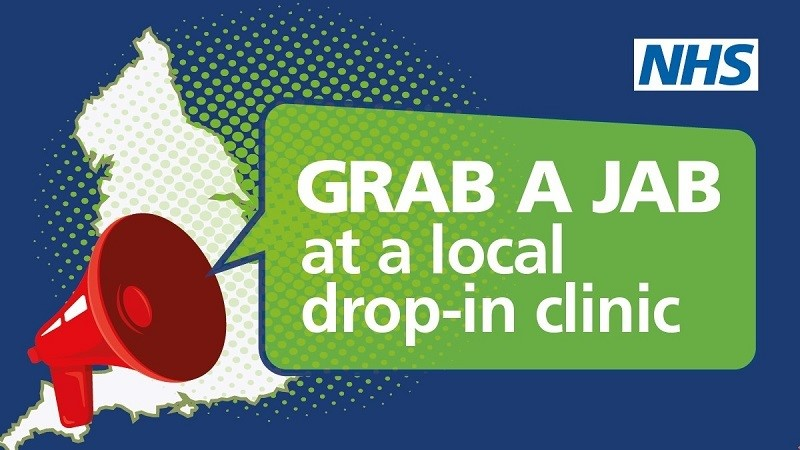 grab a jab - Walk In Vaccinations Available This Weekend